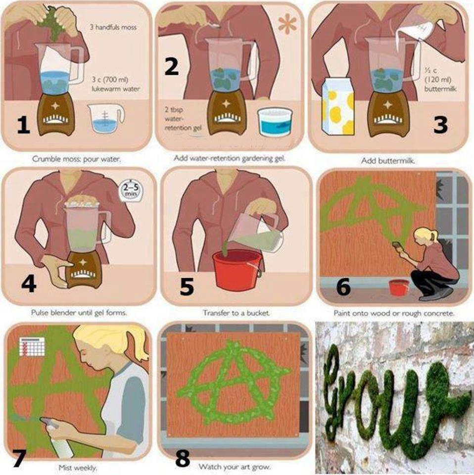 moss graffiti - how to