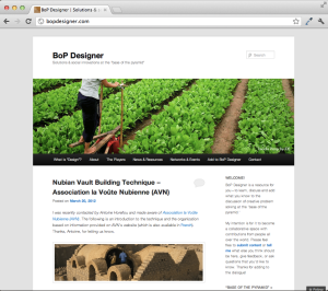 BoP Designer - Home page screenshot - March 2012