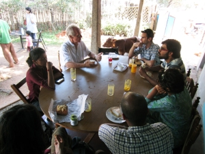 UnBox Fellows with Dr. Lucas Dengel - Auroville, India