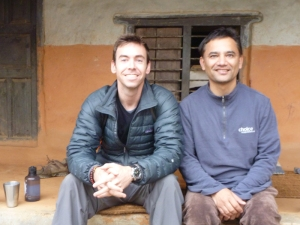 Dave Foster with Kiran Neupane of CHOICE International in Nepal