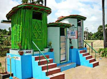 Ecosan outhouses in Musiri, Tamil Nadu, India